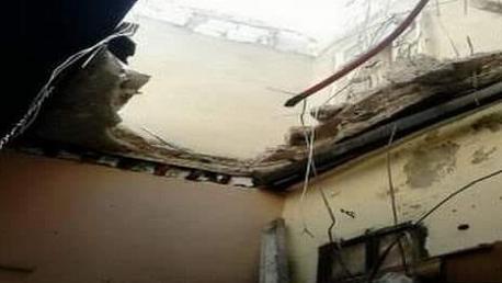 سقوط سقف غرفة بمسلخ دواجن