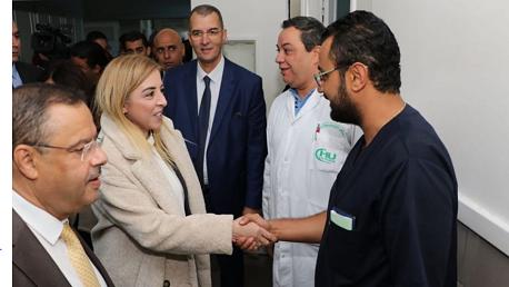 وزيرة الصحّة بالنّيابة تتوجّه بالتّقدير لفريق وحدة زرع الكبد بمستشفى المنجي سليم بالمرسى