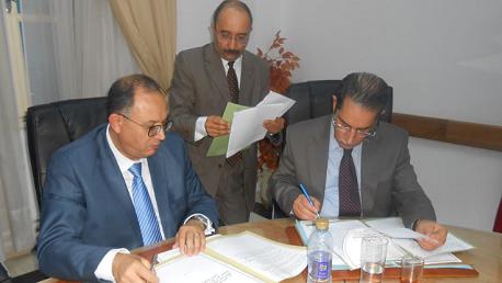 التوقيع توقيع الملحق التعديلي لكراس شروط تكفل الصندوق الوطني للتأمين على المرض بمصاريف الأعمال و العمليات الطبية