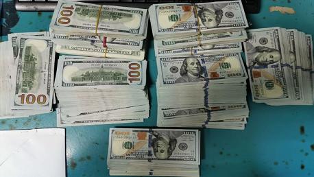 بمطار قرطاج: حجز 103 ألف دولار أمريكي إثر رفع مخالفات صرفية ضدّ مسافرين ليبيي الجنسية.