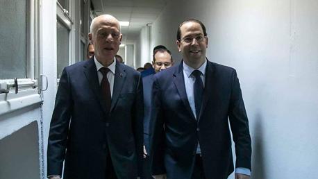 رئيسَا الجمهورية والحكومة بقاعة العمليات المركزية في الداخلية