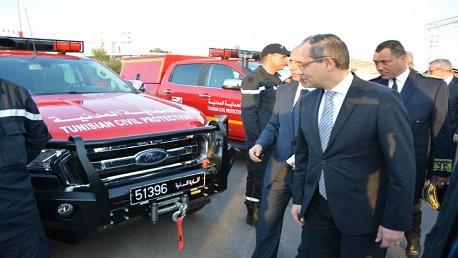 ديوان الحماية المدنية يتسلّم تجهيزات ومعدات كهبة ألمانية