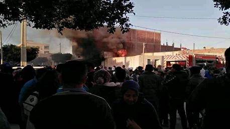 المكناسي: إصابة 24 شخصا في حريق بمحل لبيع البنزين المهرّب