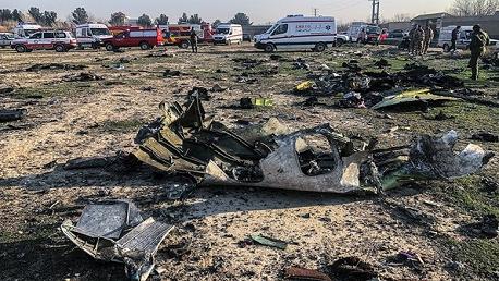 مصرع 176 شخصا جراء تحطم طائرة أوكرانية