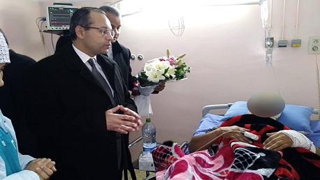 أصيبوا خلال إخماد حريق: وزير الداخلية يعود الجرحى الرتباء بالحماية المدنية
