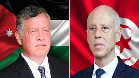 رئيس الجمهورية قيس سعيد والملك الأردني عبد الله الثاني