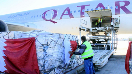 وصول شحنة من المساعدات الطبية من دولة قطر