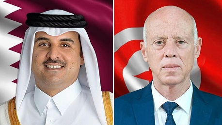 أمير قطر يدعو رئيس الجمهورية لزيارة