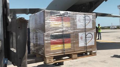 تونس تتسلّم هبة ألمانيّة ثانية تتمثل في مساعدات طبية