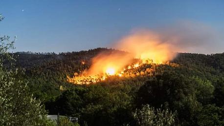 حريق في جبل غار الملح