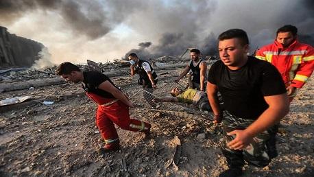انفجار مرفأ لبنان