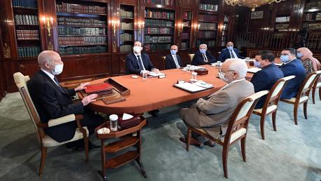 اجتماع رئيس الجمهورية بممثلي عدد من الأحزاب والكتل البرلمانية