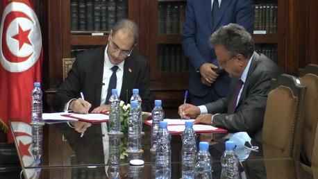 إمضاء مذكرة تفاهم بين وزارة المالية والبنك الوطني الفلاحي
