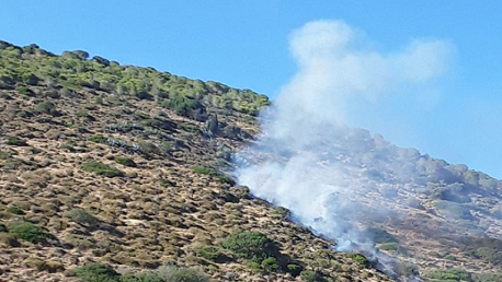 حريق بجبل غار الملح