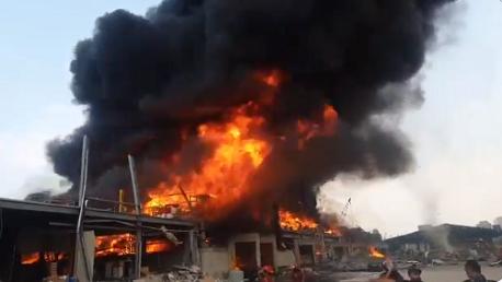 اندلاع حريق جديد في مرفأ بيروت