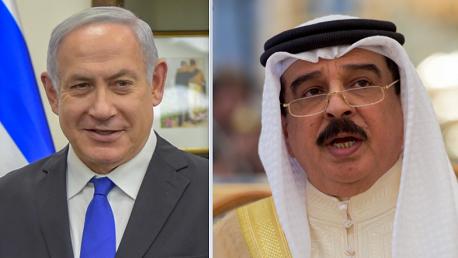 نتانياهو و الملك حمد بن عيسى آل خليفة