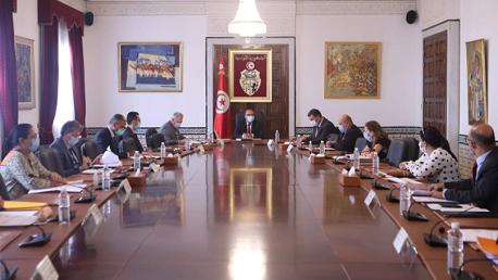 جلسة عمل تحت إشراف رئيس الحكومة هشام مشيشي