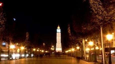حظر تجول بشارع الحبيب بورقيبة