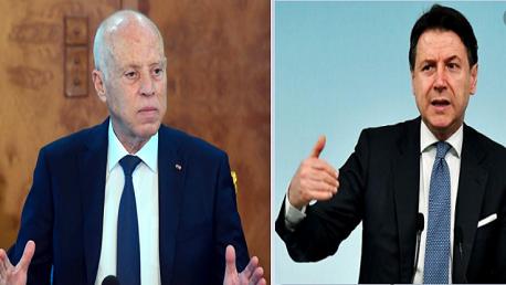 سعيد و رئيس مجلس الوزراء الإيطالي جيوسيبي كونتي