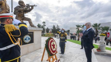رئيس الجمهورية يُحيي  الذكرى الخامسة لاستشهاد أعوان الأمن الرئاسي