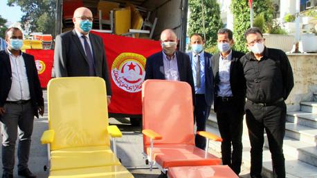 الاتحاد العام التونسي للشغل يدعم جهود وزارة الصحّة في مجابهة جائحة كوفيد-19