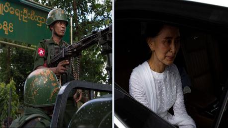 انقلاب عسكري في ميانمار والجيش يعتقل الزعيمة أونغ سان سوتشي