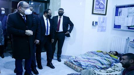 رئيس الحكومة يتحول إلى مقر اعتصام الدكاترة المعطلين عن العمل