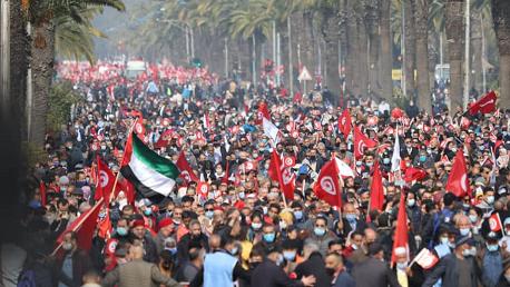 النهضة تشكر التونسيين الذين واكبوا مسيرة اليوم