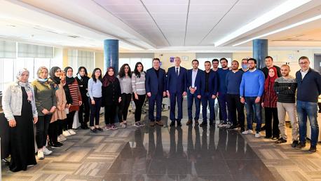 """سعيد يزور مجمع """"تالنات"""" الذي نجح في تطوير أول قمر صناعي تونسي"""