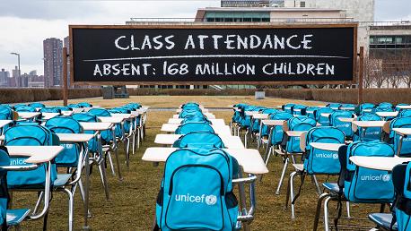 اليونيسيف تدعو الحكومات لإيلاء الأولوية لإعادة فتح المدارس