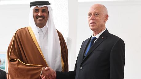سعيد يتبادل التهاني مع أمير قطر بحلول شهر رمضان المعظم