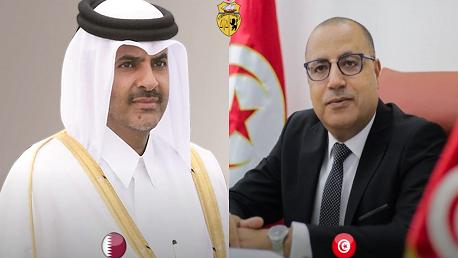 اتصال هاتفي بين رئيس الحكومة ورئيس مجلس الوزراء القطري