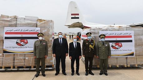 مُحمّلة بمستلزمات طبية: طائرة عسكرية مصرية  تحط في تونس