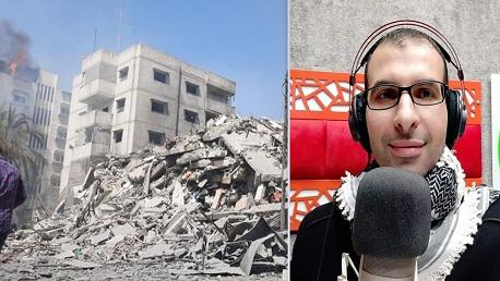 صباح اليوم: 4 شهداء بينهم صحفي و10 إصابات وتدمير 7 منازل ومؤسسات في غزة
