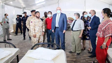 تركيز المستشفى الميداني الذي تقدمت به قطر ببن عروس