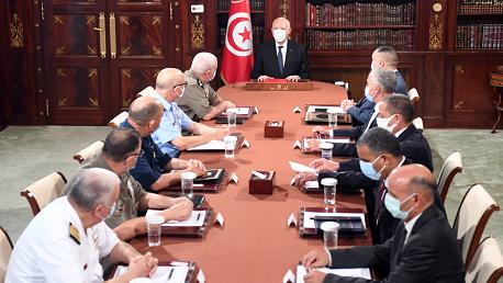 سعيد يُشرف على إجتماع المجلس الأعلى للجيوش وقيادات أمنية عليا