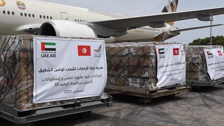 طائرتان محملتان بالأكسجين وآلات تنفس اصطناعي من الإمارات تحلاّن بتونس