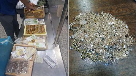 بمطار قرطاج: حجز 3 كلغ من الحلي و مبالغ من العملة المزيفة
